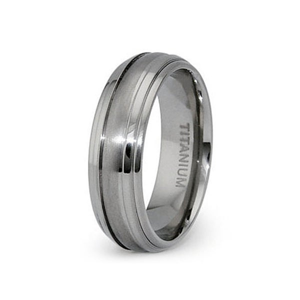 7mm Domed Titanium Ring (Sizes 6-12)