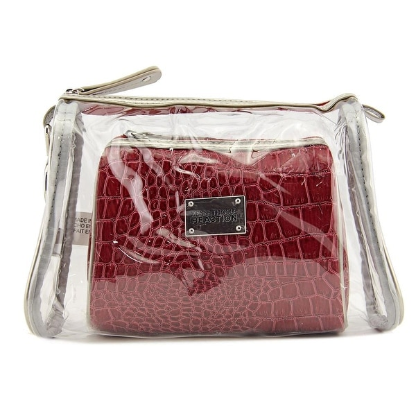 Kenneth Cole Reaction 2 Piece Clutch Set Synthetic Cosmetic Bag - Clear