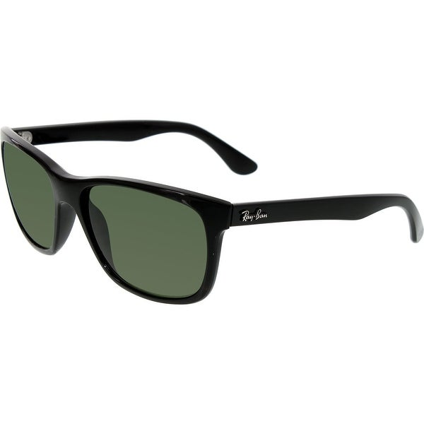 60c7e61cde Shop Ray-Ban Men s Polarized Highstreet RB4181-601 9A-57 Black Square  Sunglasses - Free Shipping Today - Overstock.com - 18901473
