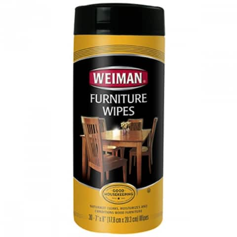 Weiman 95 Natural Furniture Wipes with Sunscreen UVX15, 30-Count