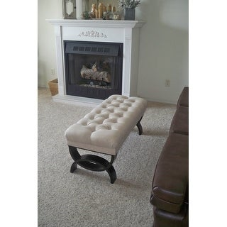 Shop Scarlette Tufted Fabric Ottoman Bench By Christopher