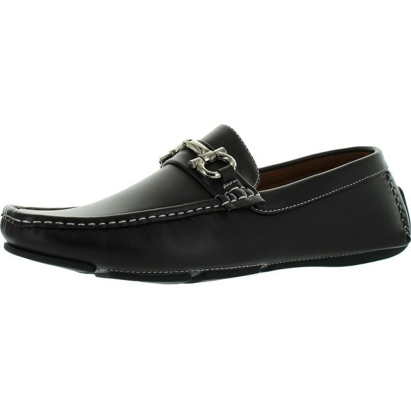Reverse Mens F4917 Designer Euro Chain Casual Moccasin Loafers