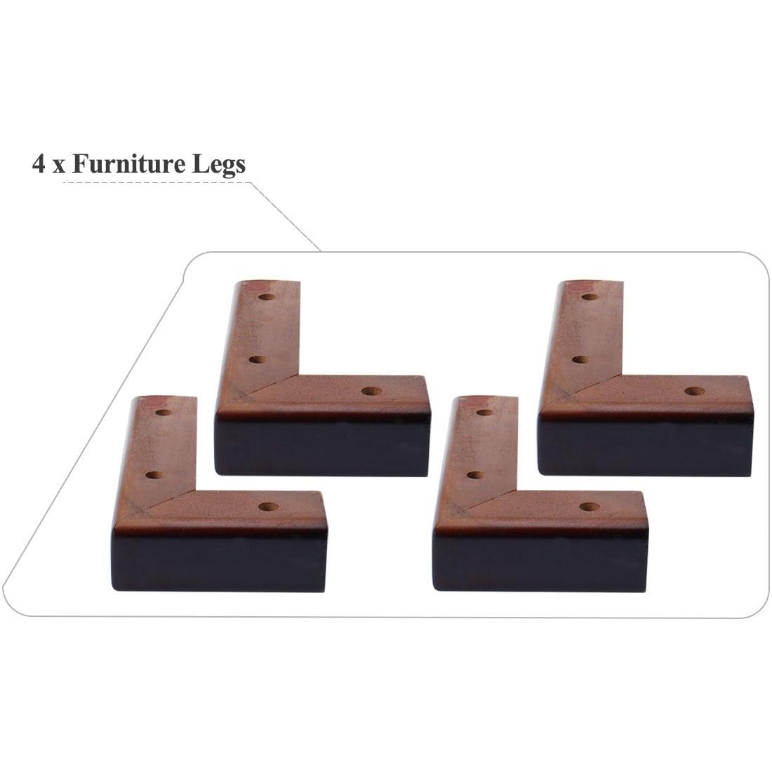 2 x Solid Wooden Furniture Feet Leg Plinth For Divan Bed Sofa Cylinder shape