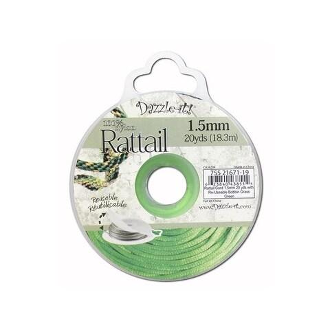 Dazzle It Rattail Cord 1.5mm 20yd Grass Green