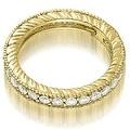 0.70 cttw. 14K Yellow Gold Antique Round Cut Diamond Wedding Band - Thumbnail 1