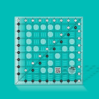 "Link to Creative Grids Quilt Ruler 9-1/2in Square - 9.5"" x 9.5"" x 0.25"" Similar Items in Sewing & Quilting"