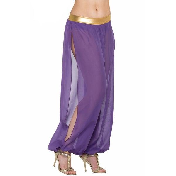Forum Novelties Belly Dancer Harem Pants Adult Costume (Purple) - Purple - Standard