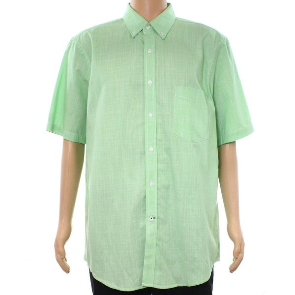 b207dc6991 Shop Club Room Green Mens Size Small S Button Down Micro Check Shirt - Free  Shipping On Orders Over $45 - Overstock - 22409666