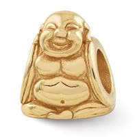 Sterling Silver Reflections Gold-plated Buddha Bead (4mm Diameter Hole)