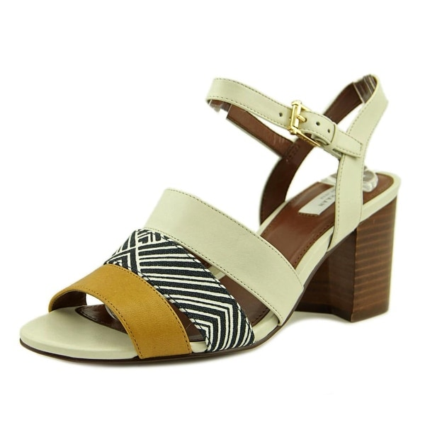 Cole Haan Anisa High Women Open Toe Leather Ivory Sandals