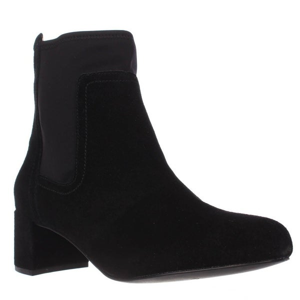 Taryn Rose Louise Stretch Ankle Boots, Black