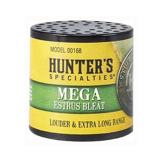 Hunters specialties 00168 hs deer call can style mega adult doe estrus bleat