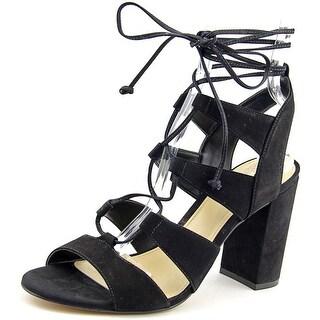 Vince Camuto Winola Women Open Toe Leather Black Sandals