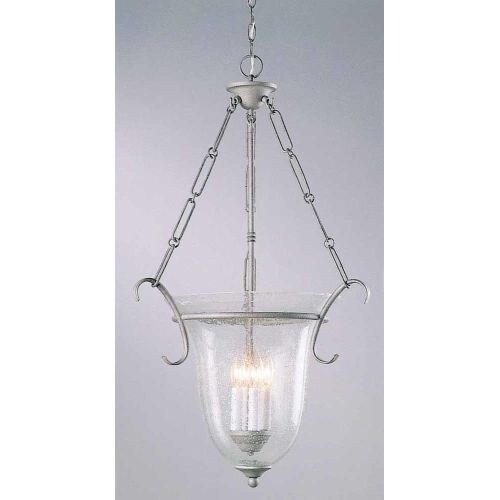 "Volume Lighting V1934 4 Light Foyer 32.25"" Height Pendant with Clear Seedy Glass"