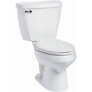 Mansfield 382-386 Summit 1.6 GPF Two-Piece Elongated Toilet - Less Seat - White