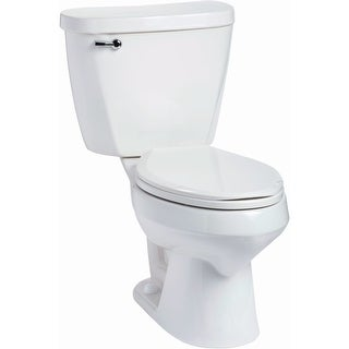 Mansfield 382-387 Summit 1.28 GPF Two-Piece Elongated Toilet - Less Seat - White