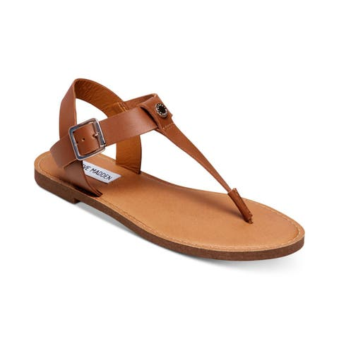 a788fe77044a Steve Madden Womens Skylar Leather Open Toe Casual Slide Sandals