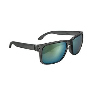 Sport Sunglasses with Clear Smoke Frames/Yellow Anti Glare Lenses - Black