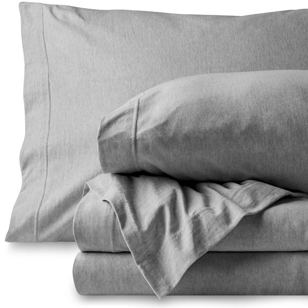 Bare Home 100% Jersey Cotton Sheet Set, Breathable & Deep Pocket. Opens flyout.