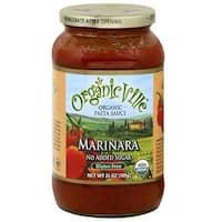 Organic Ville Organic Pasta Sauce - Marinara - Case of 12 - 24 Fl oz.