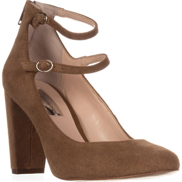 I35 Mulli Mary Jane Pumps, Toffee Suede - 7 us
