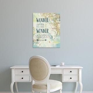 Easy Art Prints Katie Pertiet's 'Map Sentiments V' Premium Canvas Art