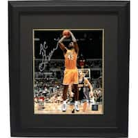 AC Green signed Los Angeles Lakers 8x10 Photo Custom Framed yellow jersey
