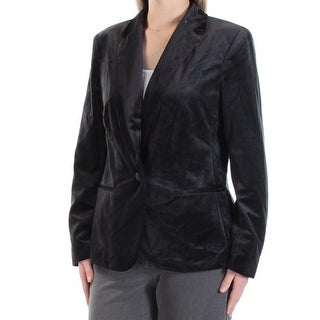 Womens Black Wear To Work Blazer Jacket Size 10