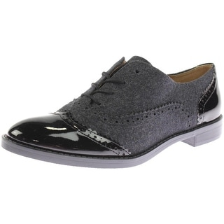 Franco Sarto Womens Imagine Mixed Media Lace Front Oxfords