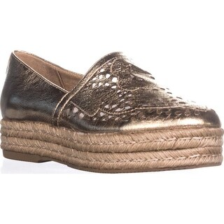 naturalizer Thea Perforated Platform Espadrilles, Platino - 8 w us
