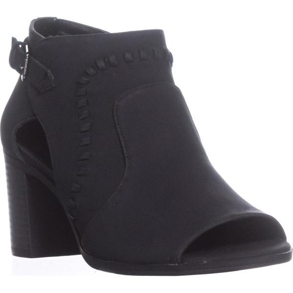 Easy Street Poppet Peep Toe Ankle Boots, Black