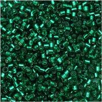 Miyuki Delica Seed Beads 11/0 - Silver Lined Emerald DB605 - 7.2 Grams