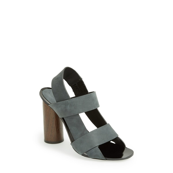 Proenza Schouler Gray Women's Shoes 10 Strappy Leather Sandal