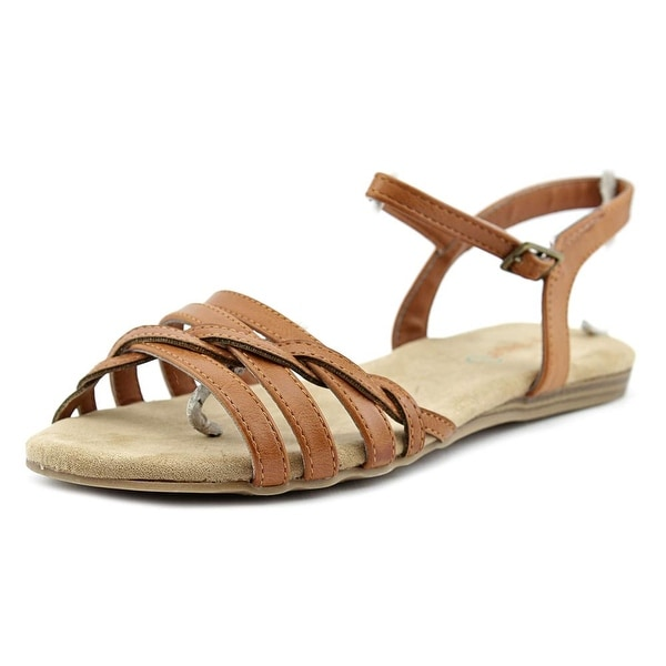 Baretraps Saddle Youth Open-Toe Synthetic Tan Slingback Sandal