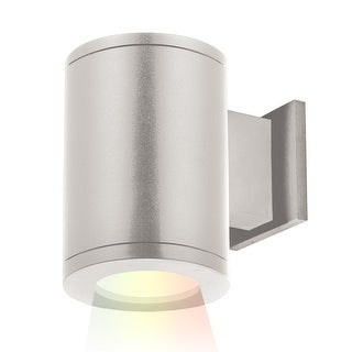 """WAC Lighting DS-WS05-NS-CC Tube Architectural ilumenight Single Light 7-1/8"""" Tall Integrated LED Outdoor Wall Sconce with Narrow"""