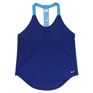 Nike Womens Elastika Solid Training Tank Top Royal Blue - royal blue/light blue/white