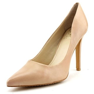 Vince Camuto Kain Women Pointed Toe Leather Nude Heels