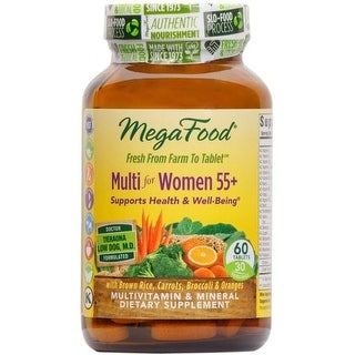 MegaFood Multi for Women 55+ Supports Health & Well-Being - 60 Tablets Supports Cardiovascular Function & Mood