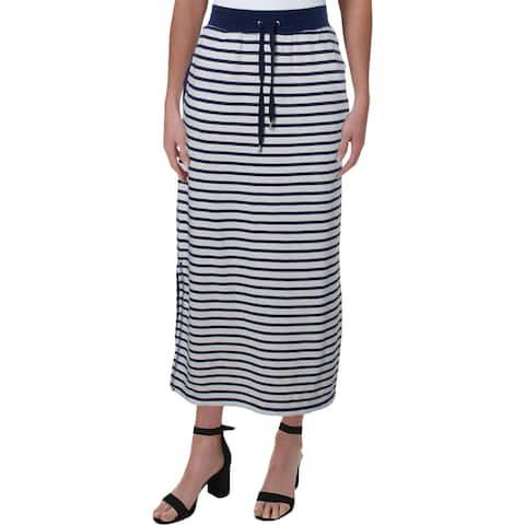 Lauren Ralph Lauren Womens Maxi Skirt Cotton Striped