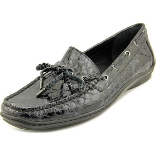 Donald J Pliner Lacey Women Moc Toe Patent Leather Loafer