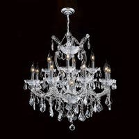 "Worldwide Lighting W83006C27 Maria Theresa 13-Light 2 Tier 27"" Chrome Chandelier - N/A"