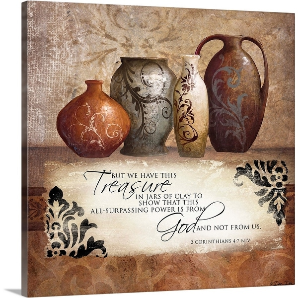 """Treasures from God"" Canvas Wall Art"