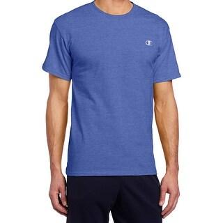 Champion NEW Blue Mens Size Small S Crewneck Short-Sleeve Tee T-Shirt 110