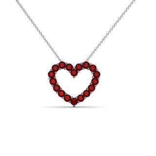 """Link to TriJewels Gemstone Heart Pendant Necklace 14K Gold with 18"""" Chain Similar Items in Necklaces"""
