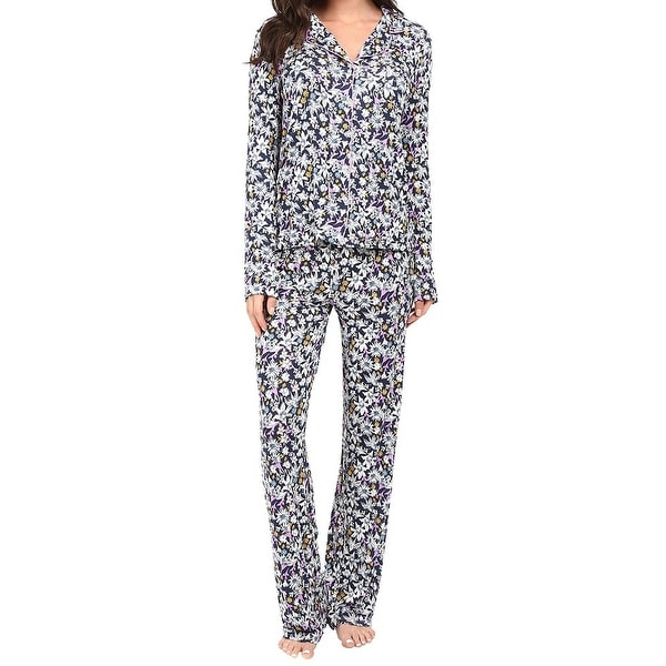 0ff7ee80363e Shop Splendid NEW Blue Womens Size Small S Floral Button Down Pajama Sets -  Free Shipping On Orders Over  45 - Overstock - 20534498