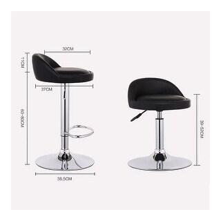 2 pcs a Set liftable Adjustable stainless bar Pub Swivel Hydraulic rack stools