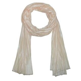 CTM® Women's Sheer Stripe Neutral Dress Fashion Scarf - one size
