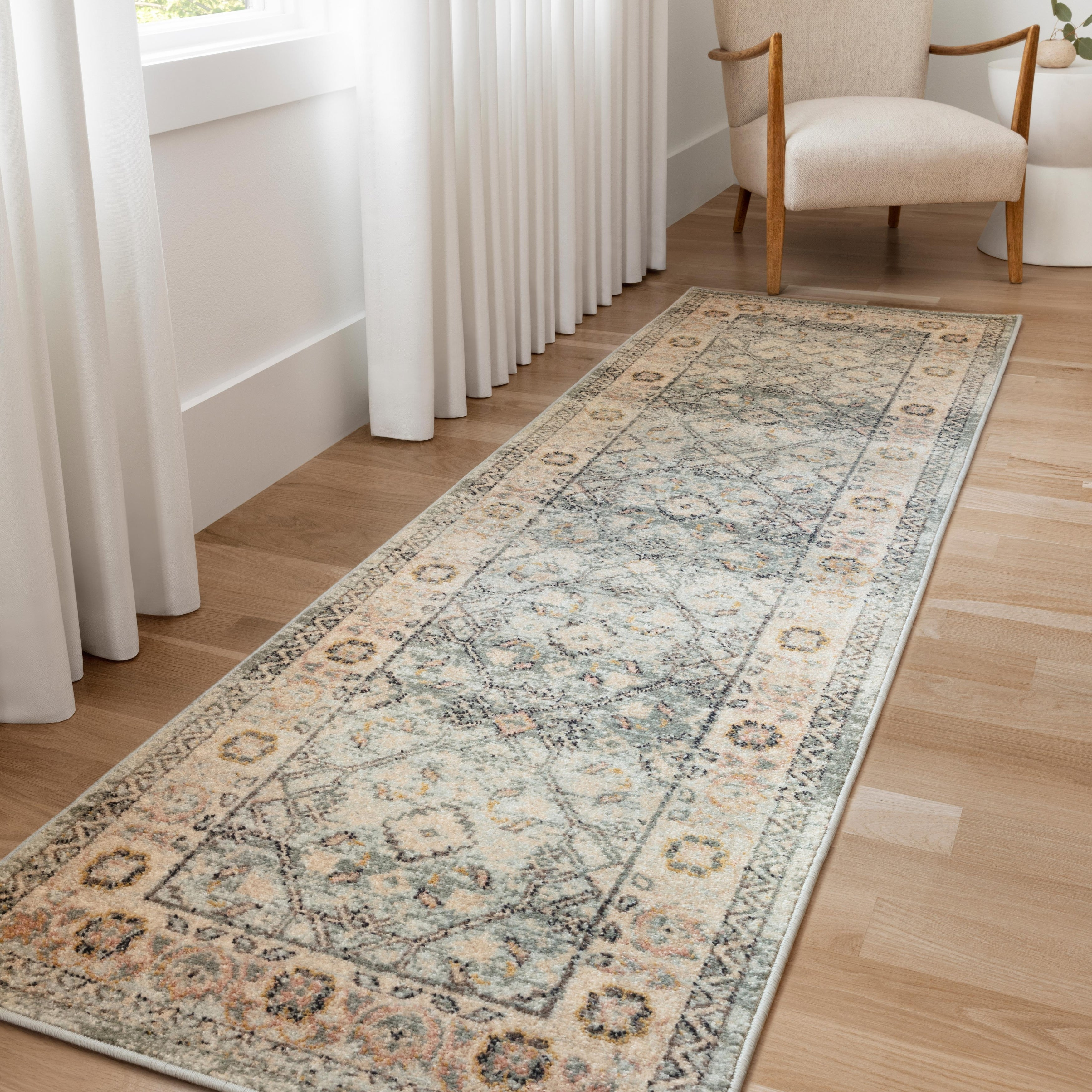 Alexander Home Luxe Shabby Chic Antiqued Distressed Area Rug Overstock 30732965