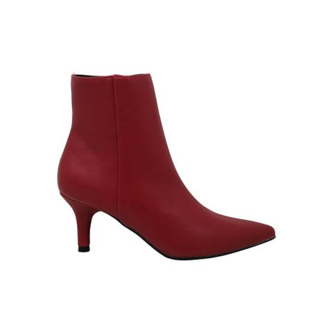 Rampage Womens Teeny Leather Pointed Toe Ankle Boots & Booties Fashion Boots