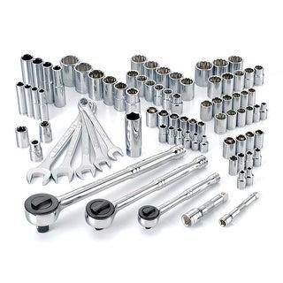 Powerbuilt 82 Piece SAE/Metric Socket Set, Mechanics Tool Set